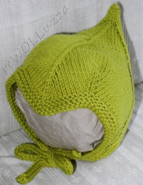 Pixie style bonnet  - isn't it the cutest?